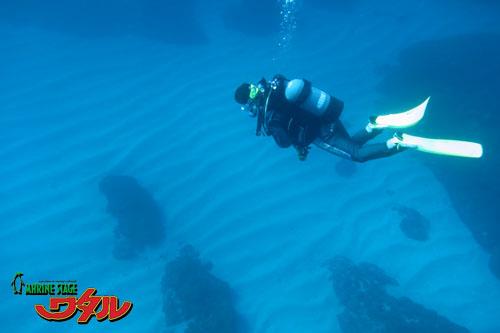 潜降中の水底