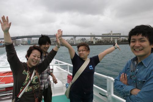 阿嘉島へ出港