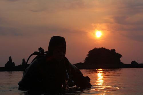 早朝ダイビング2日目。笑