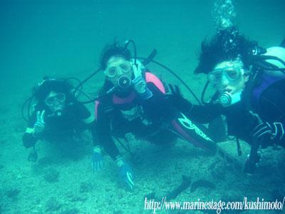 お母さんと娘さんで体験ダイビング♪
