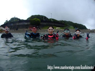ファミリーで体験ダイビング