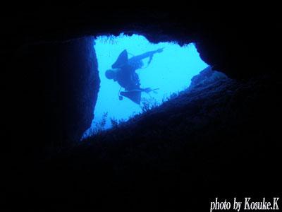 浅地 穴を通ってます