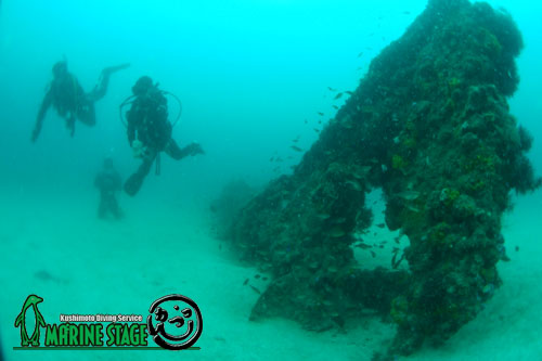 中黒礁 串本にもあるんですよ!沈船。笑