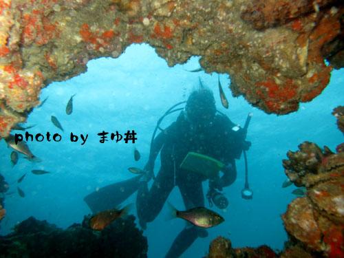 中黒礁 潜水艦のマド