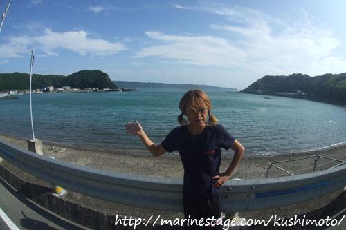 今日の海!こんな感じです。