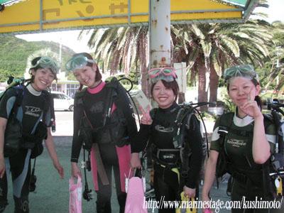 シーサイドビーチで体験ダイビング♪