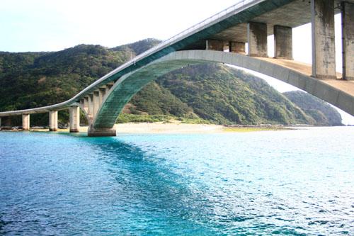 蒼く染まる橋